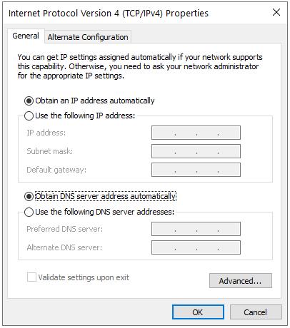 تنظیم آدرس IP به صورت اتوماتیک