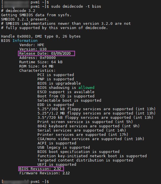 اطلاعات فریمور با استفاده از خط فرمان