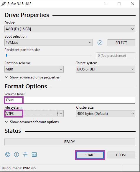 انتخاب فایل سیستم